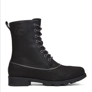 Sorel Emilie 1964 Black Leather Waterproof Boot
